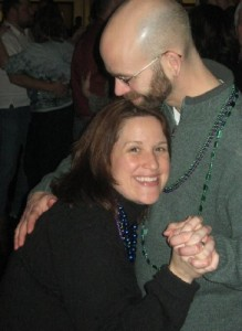 A picture of us slow dancing, but not of our first real dance (Remember? We were the only ones there when it happened).