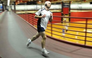 Here's a photo of me running at the SAC that was featured in a Morning Sun article.