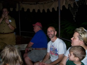 Dan and my dad aboard the Jungle Cruise