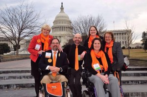 A memorable moment as we arrived on Capitol Hill with Jan Bell (President of the National MS Society Alabama-Mississippi Chapter), Scott M. Crawford (also from the NMSS Alabama-Mississippi Chapter), and Liz Trapp and Ruth Linnemann from the NMSS National Multiple Sclerosis Society, Michigan Chapter