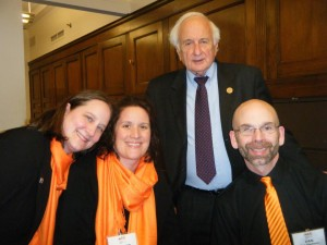 Us and Liz Trapp with Rep. Sander Levin, who graciously took the time to briefly stop by and meet us on his way to a meeting.