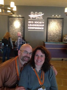 In the Omni Fort Worth Hotel lobby for the National MS Society Leadership Conference.